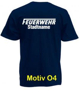 Feuerwehr T-Shirt mit Ortsname Motiv O4