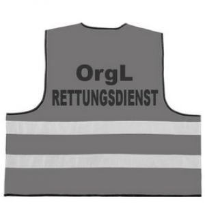 Rettungsdienst Funktionsweste mit Aufdruck OrgL RETTUNGSDIENST