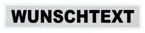 Rettungsdienst Reflex - Rückenschilder 42x8cm, 1-zeilig, weiss