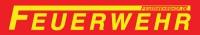 FEUERWEHR-Aufkleber outdoor 3,5 x 21 mit langen F