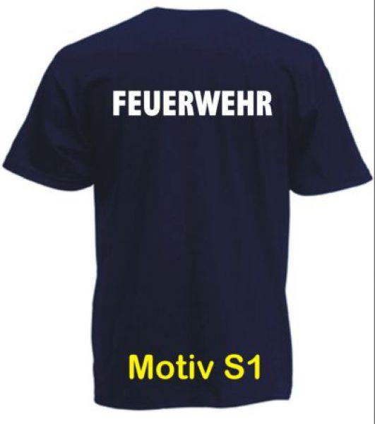 Feuerwehr T-Shirt Motiv S1