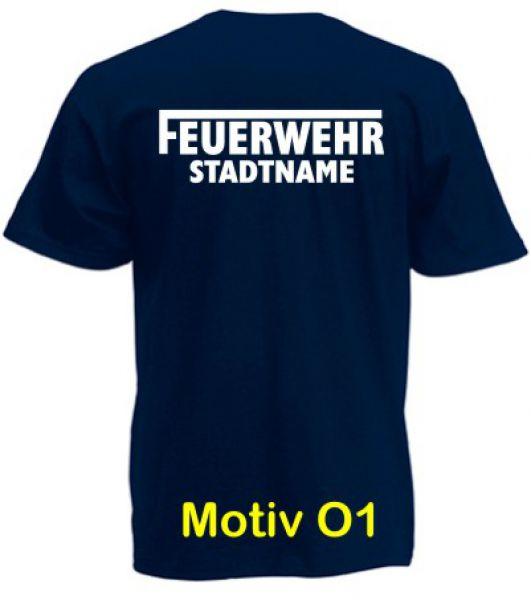Feuerwehr T-Shirt mit Ortsname Motiv O1
