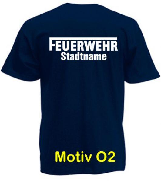 Feuerwehr T-Shirt mit Ortsname Motiv O2