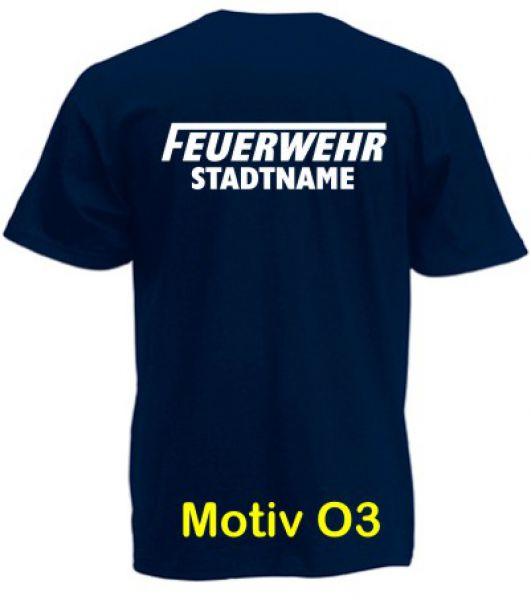 Feuerwehr T-Shirt mit Ortsname Motiv O3