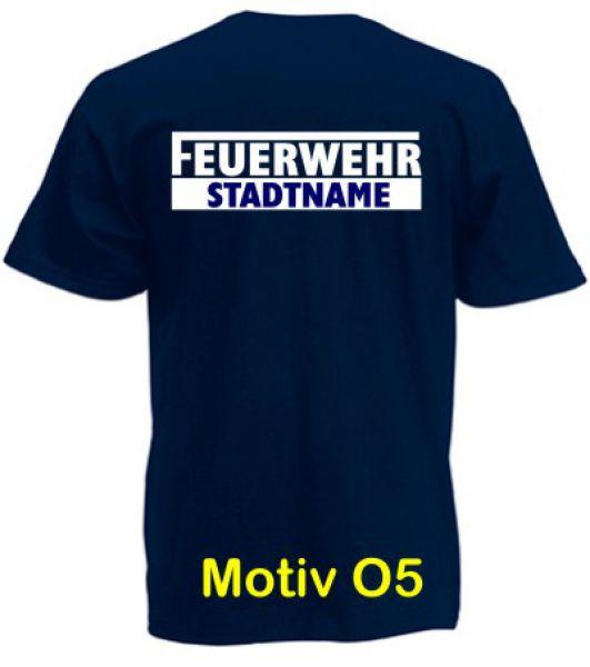 Feuerwehr T-Shirt mit Ortsname Motiv O5