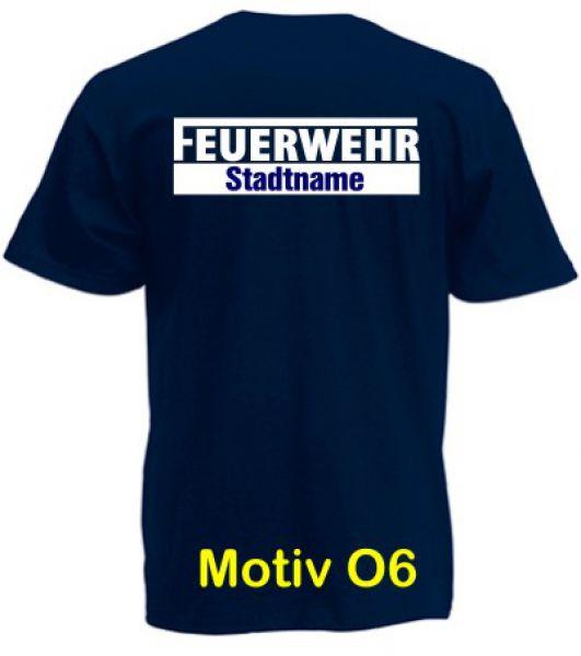 Feuerwehr T-Shirt mit Ortsname Motiv O6