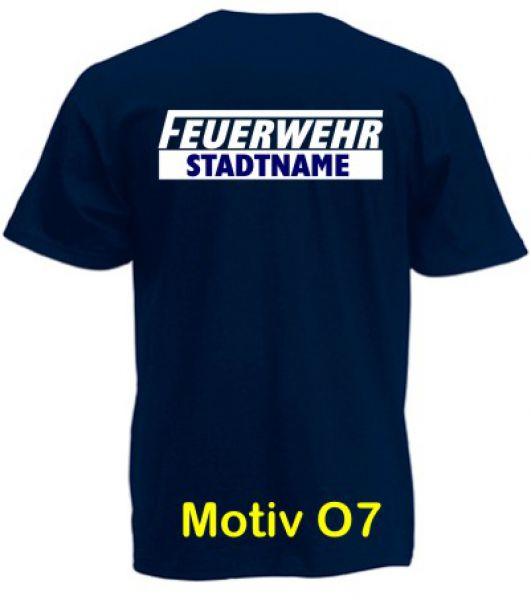 Feuerwehr T-Shirt mit Ortsname Motiv O7
