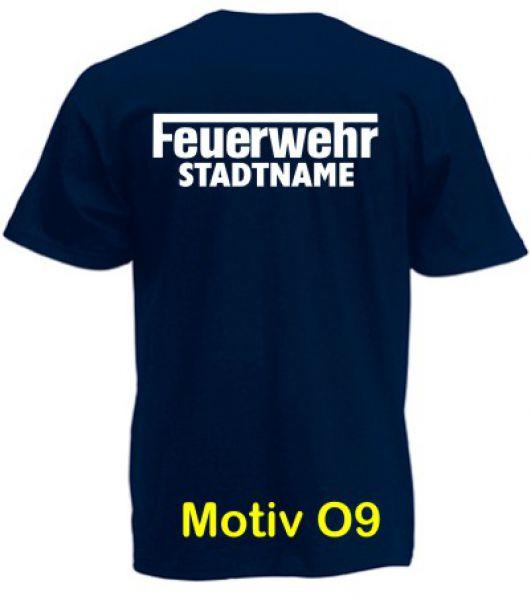Feuerwehr T-Shirt mit Ortsname Motiv O9