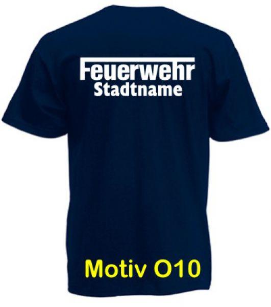 Feuerwehr T-Shirt mit Ortsname Motiv O10