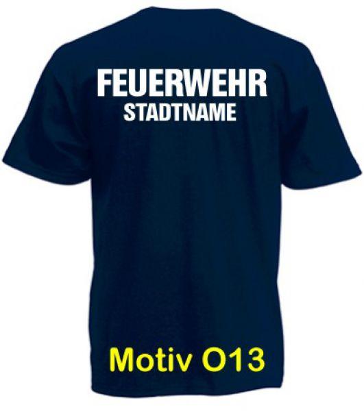 Feuerwehr T-Shirt mit Ortsname Motiv O13