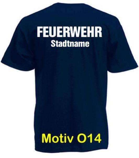 Feuerwehr T-Shirt mit Ortsname Motiv O14