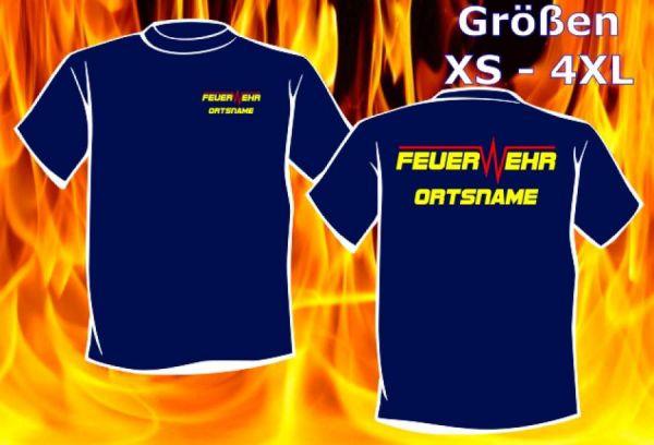 Feuerwehr T-Shirt mit Ortsname Motiv O21