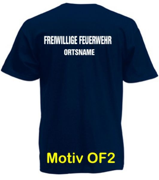 Feuerwehr T-Shirt mit Ortsname Motiv OF-2