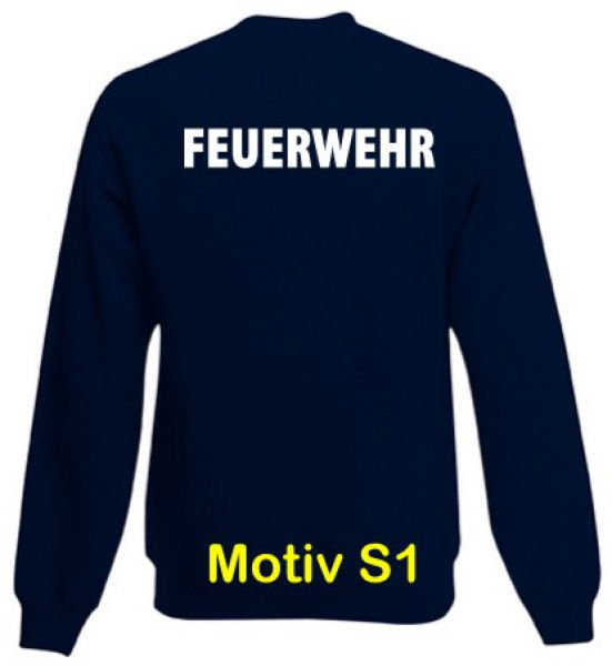 Feuerwehr Sweatshirt Motiv S1