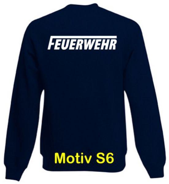 Feuerwehr Sweatshirt Motiv S6