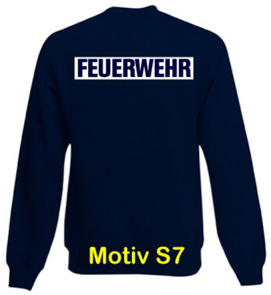 Feuerwehr Sweatshirt Motiv S7