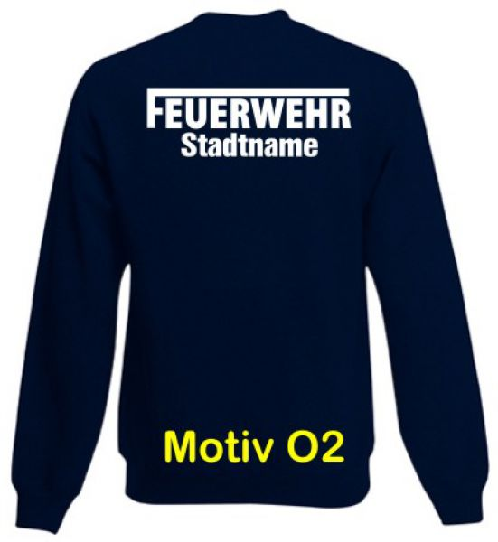Feuerwehr Sweatshirt mit Ortsnamen Motiv O2