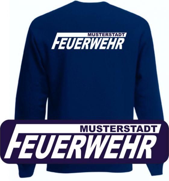 Feuerwehr Sweatshirt mit Ortsnamen Motiv O15
