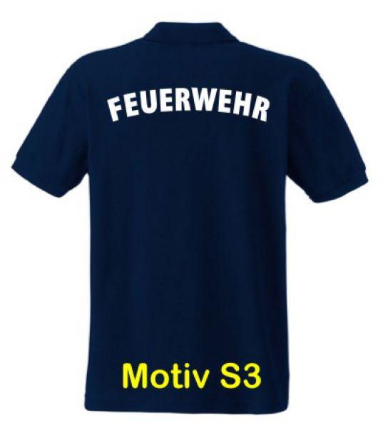 Feuerwehr Poloshirt Motiv S3