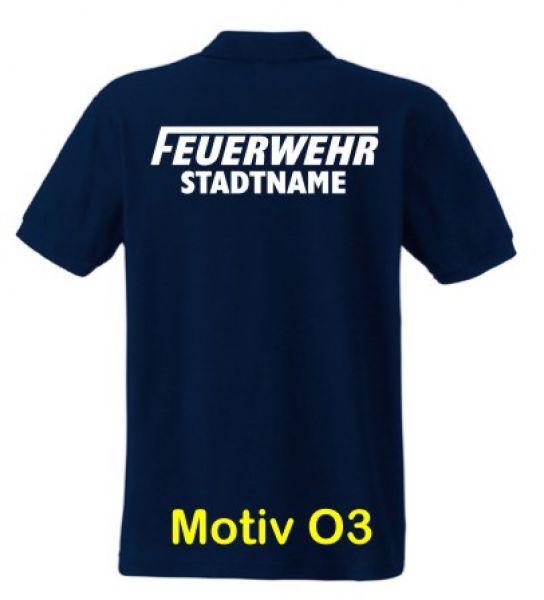 Feuerwehr Poloshirt mit Ortsname Motiv O3
