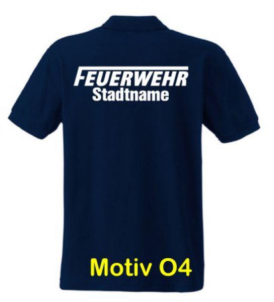 Feuerwehr Poloshirt mit Ortsname Motiv O4