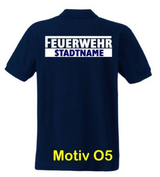 Feuerwehr Poloshirt mit Ortsname Motiv O5
