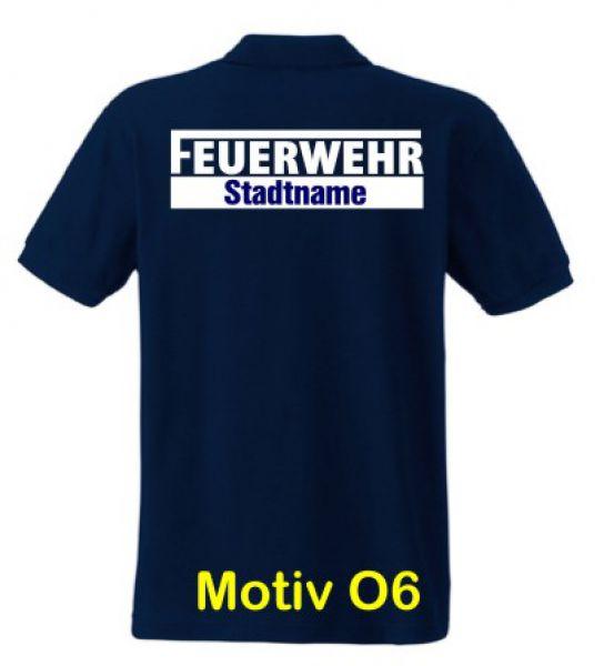 Feuerwehr Poloshirt mit Ortsname Motiv O6