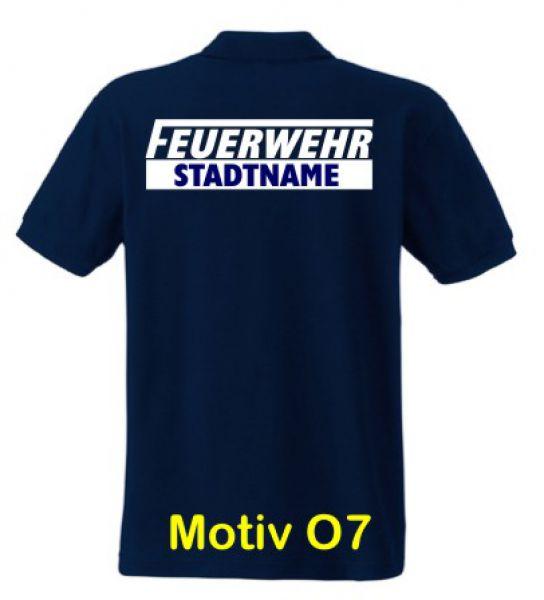 Feuerwehr Poloshirt mit Ortsname Motiv O7