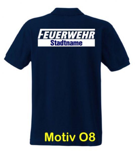 Feuerwehr Poloshirt mit Ortsname Motiv O8