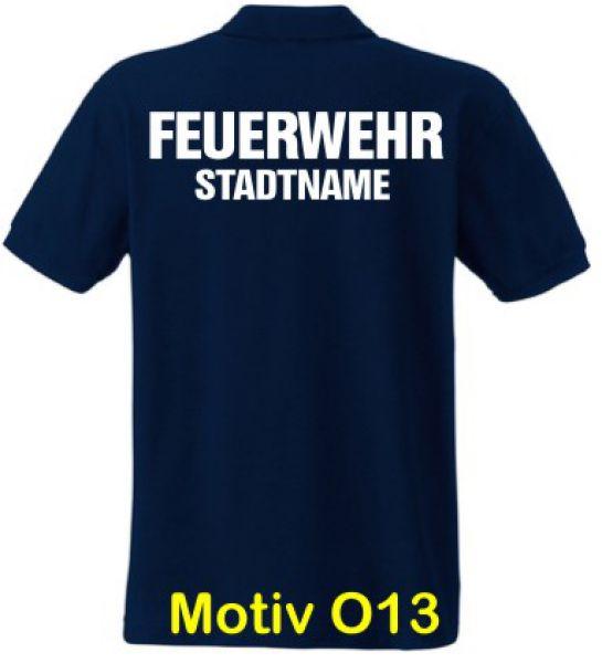 Feuerwehr Poloshirt mit Ortsname Motiv O13