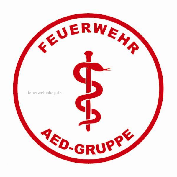 Helmsticker - FEUERWEHR AED-GRUPPE