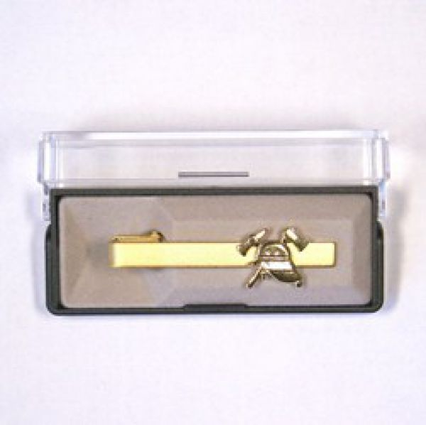 Feuerwehr Krawattenspange (gold)