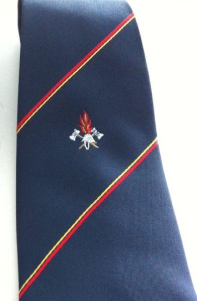 Feuerwehr Krawatte mit Logo und Streifen