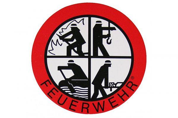 Feuerwehr Signet - Aufkleber ca. 9cm, rund, von innenklebend