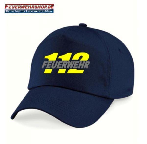 Caps mit besticktem 112 / FEUERWEHR Logo
