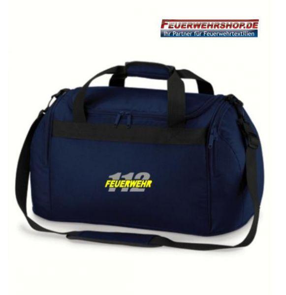 Freizeit Bekleidungstasche mit gesticktem FEUERWEHR / 112 Logo