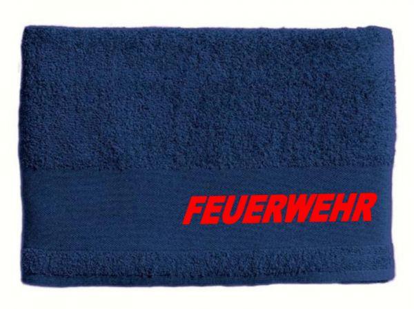 Feuerwehr Bade-Handtuch, bestickt mit FEUERWEHR, 100 x 150 cm