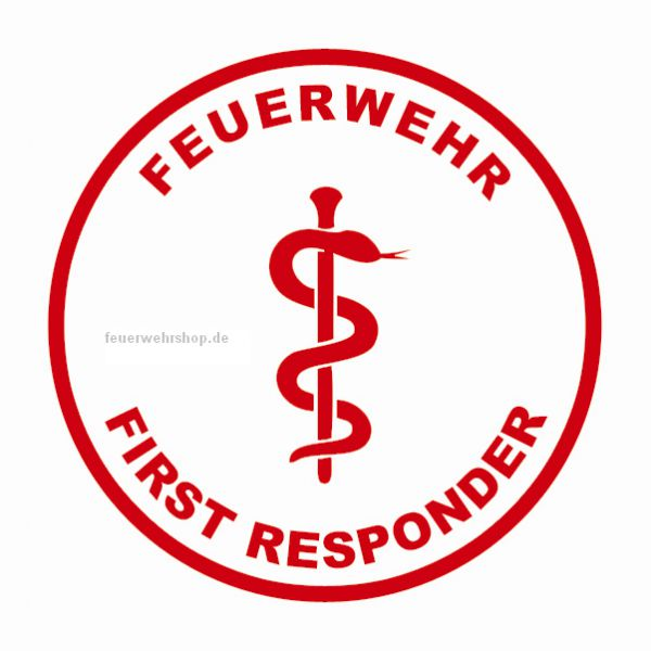 Helmsticker - FEUERWEHR FIRST RESPONDER