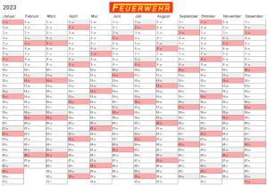 FEUERWEHR Jahresplaner / Wandkalender 2020, A2