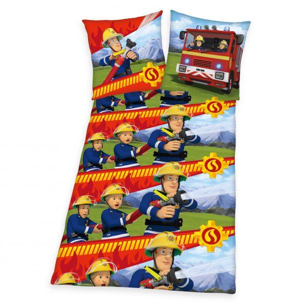 Feuerwehrmann SAM Flanell-Bettwäsche