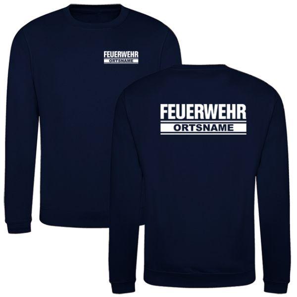 Feuerwehr Sweatshirt mit Ortsnamen Motiv O23