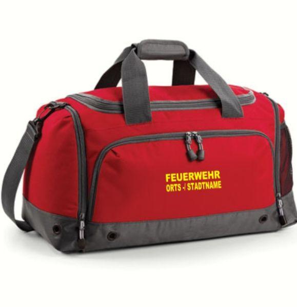 Feuerwehr Bekleidungstasche mit gesticktem FEUERWEHR u. ORTS -/ STADTNAMEN