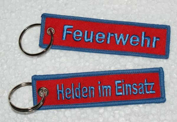 Schlüsselanhänger Feuerwehr - Helden im Einsatz