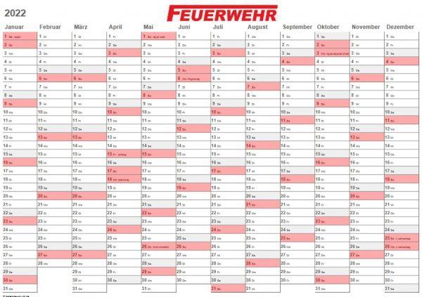 FEUERWEHR Jahresplaner / Kalender 2021, A4