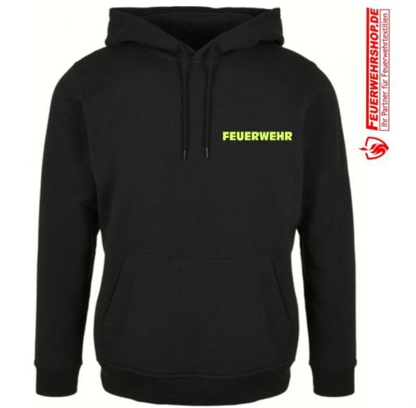 Feuerwehr Premium Kapuzenshirt mit gesticktem FEUERWEHR , 1-zeilig (S - 8XL !)