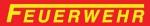 FEUERWEHR-Aufkleber outdoor 3,5 x 21 mit langen F o.W. - 5er